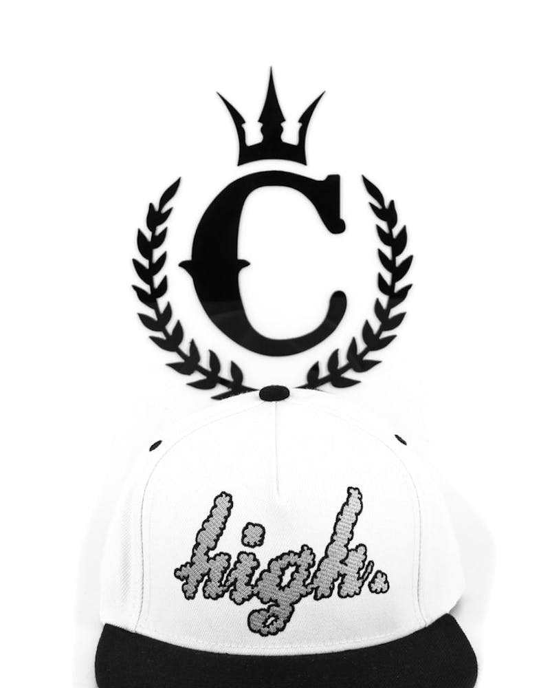 Domo High Snapback White/black