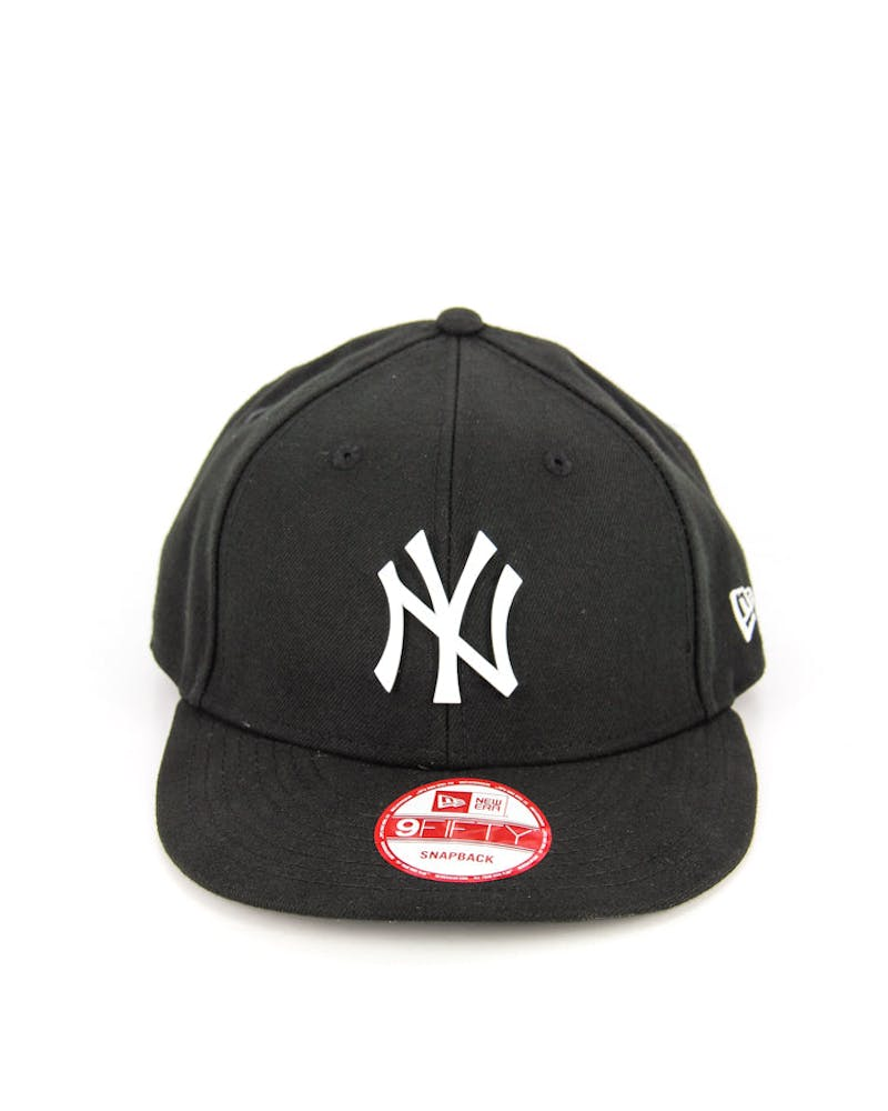 Yankees Low Crown Metal Snapback Black/white