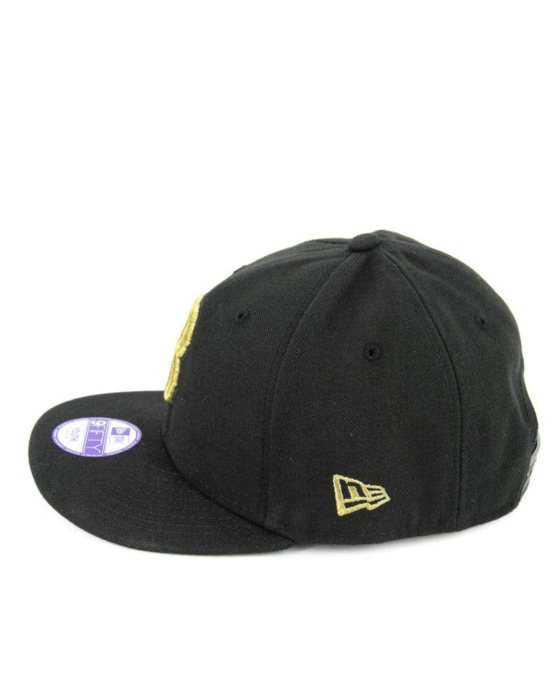 Red Sox Youth Snapback Black/gold