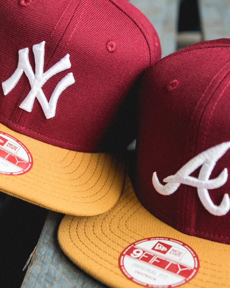 Braves Original Fit Snapback Cardinal/tan/wh