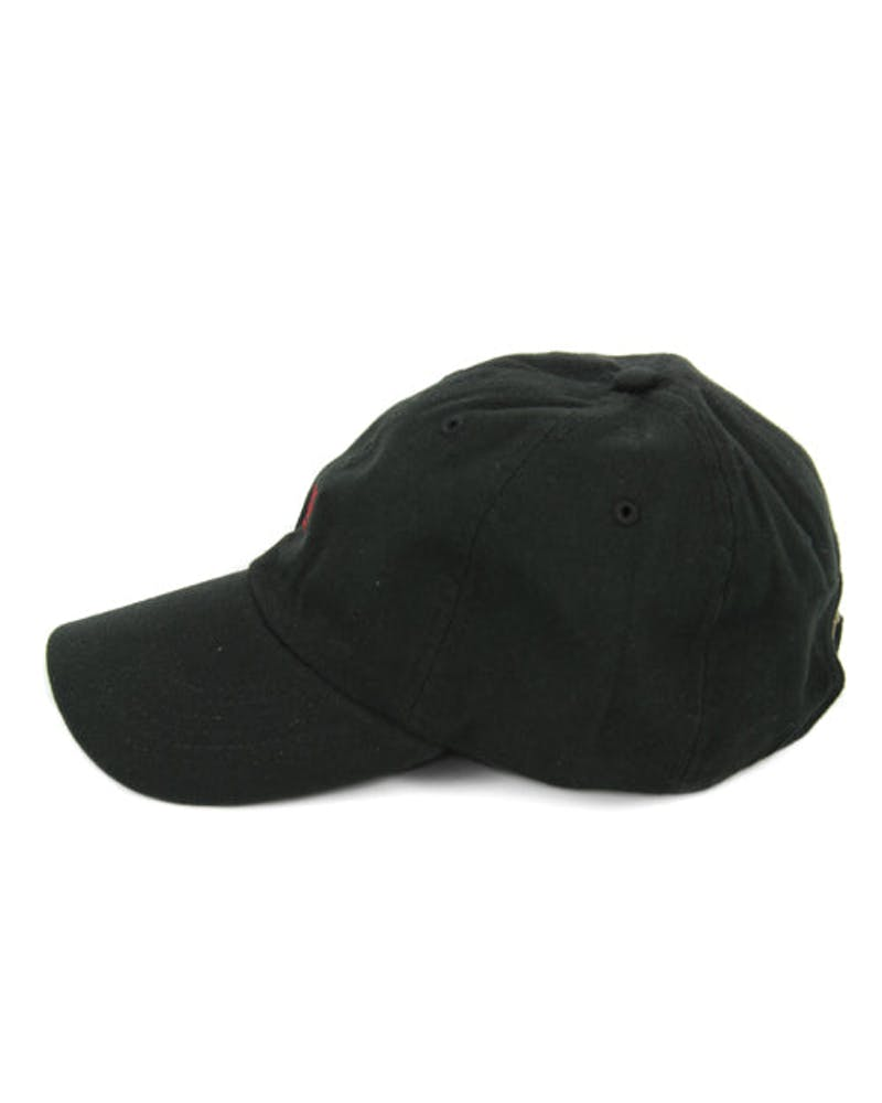 100 Curved Strapback Black