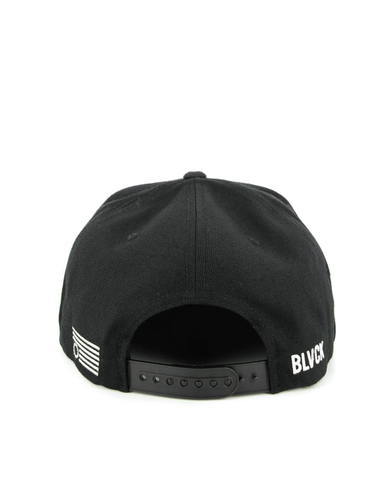 Star Spangle Snapback Black