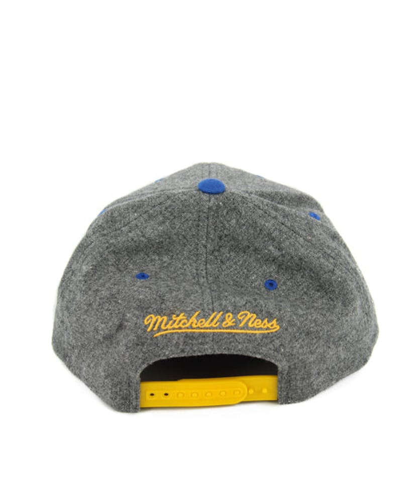 Warriors 2tone 110 Curved Snapback Grey/blue