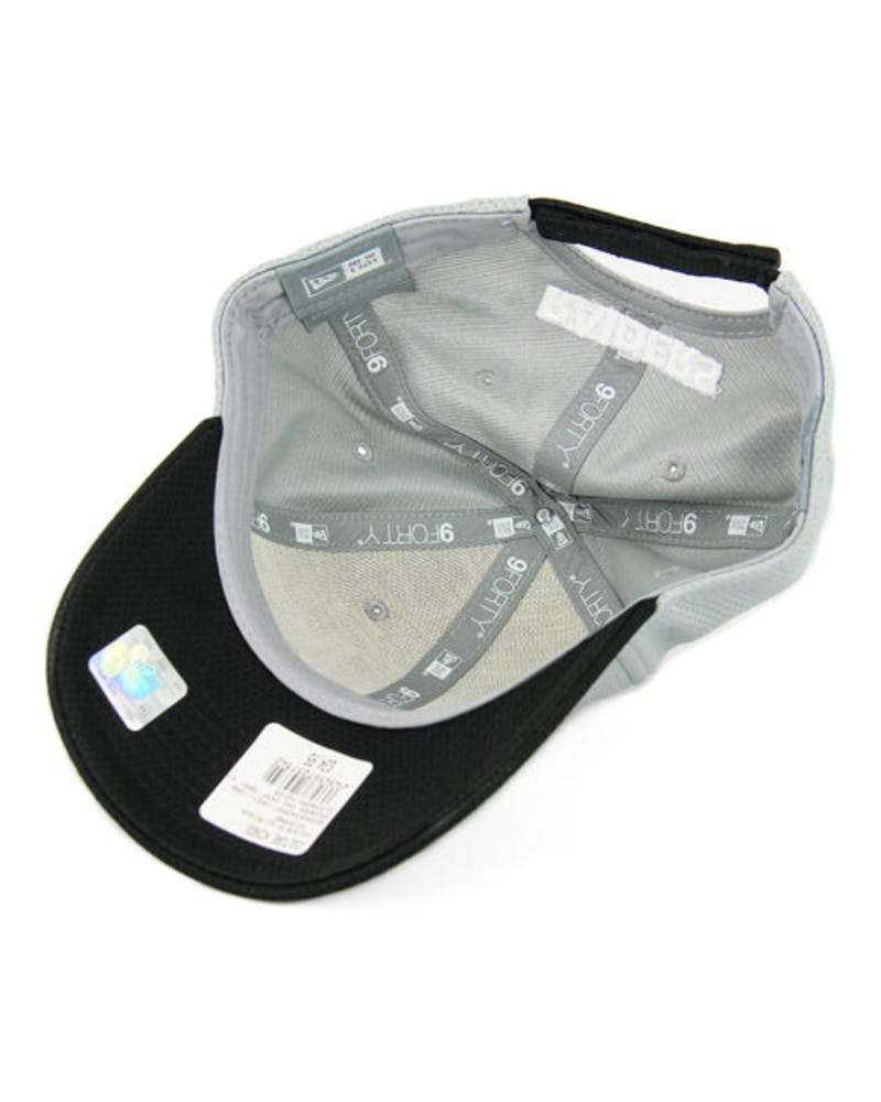 New Era Raiders 9FORTY Perf Gray ST Grey/black