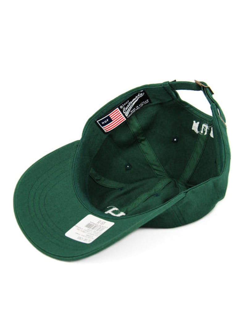 Classic H Curved Strapback Forest Green
