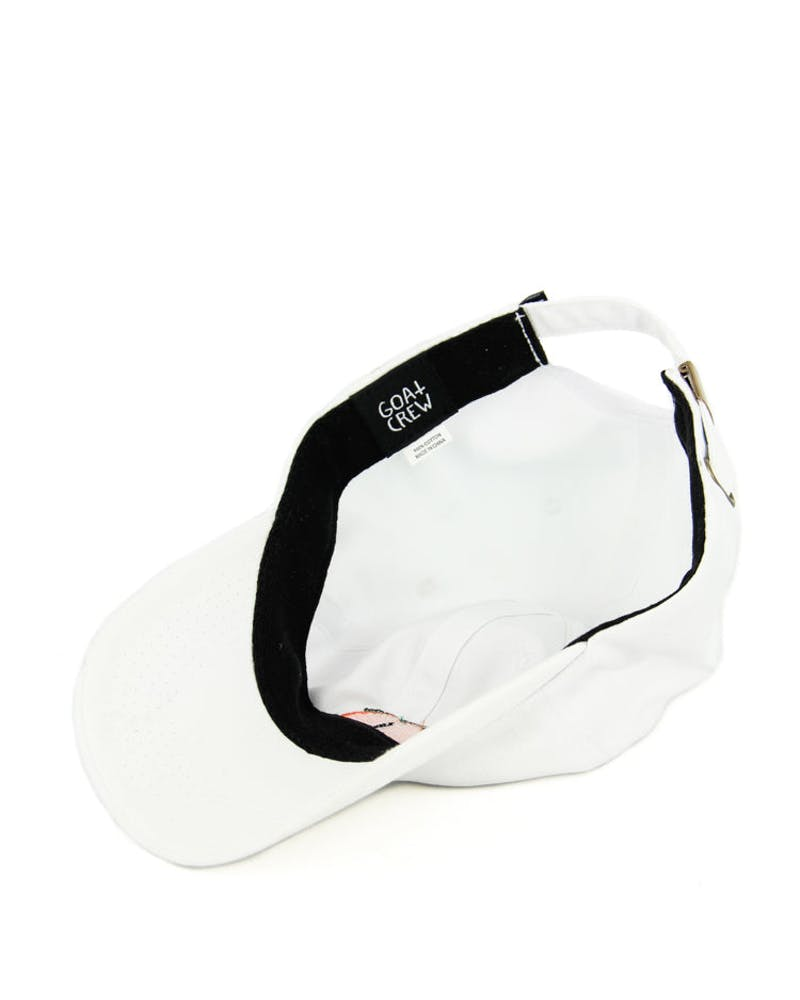 Peach Strapback White