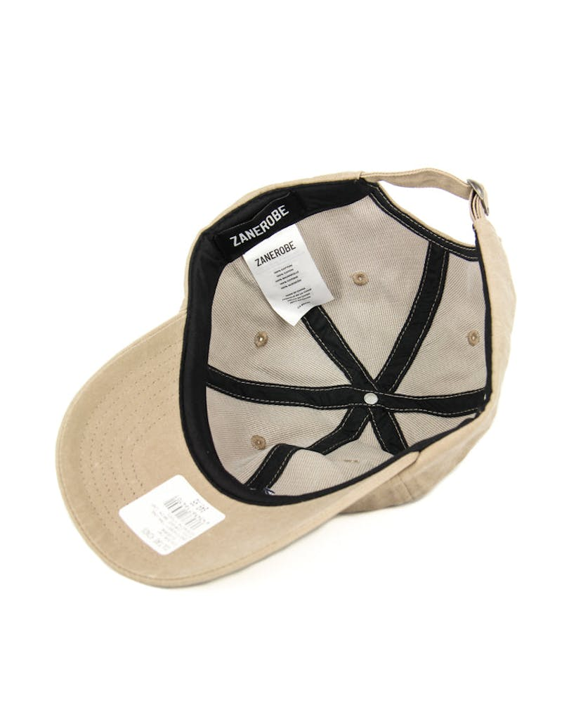 Etch Curved Brim Cap Tan