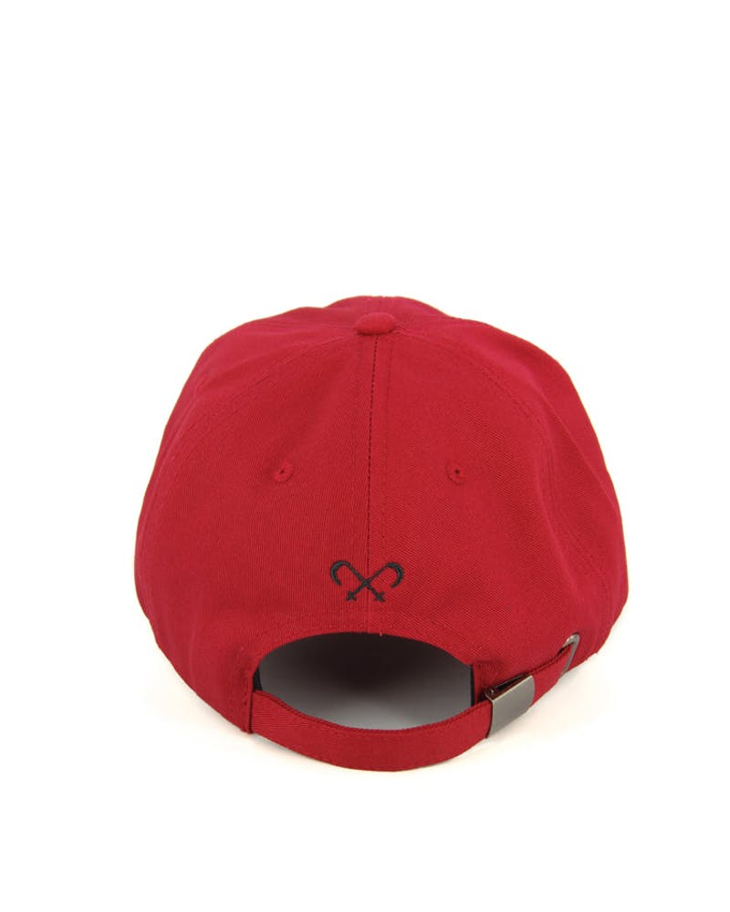 Invader Precurve Strapback Dark Red