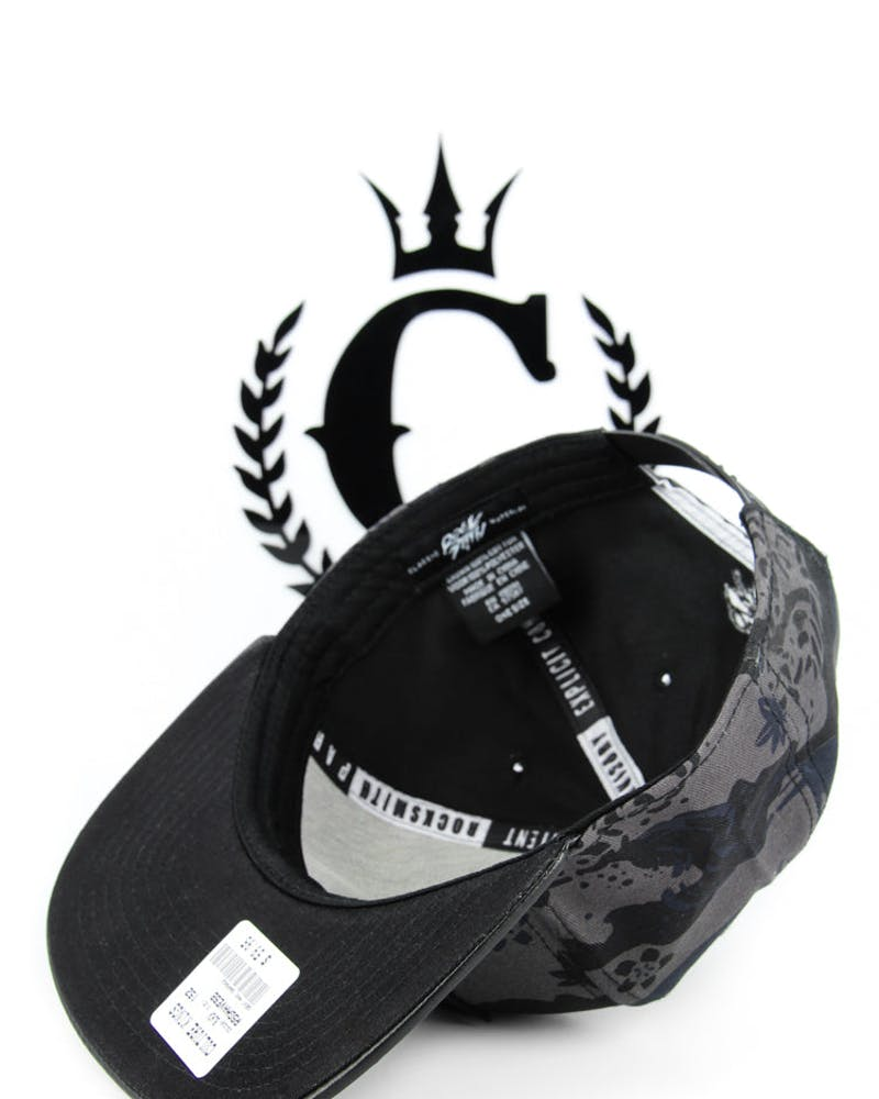 Great Wave Snapback Black