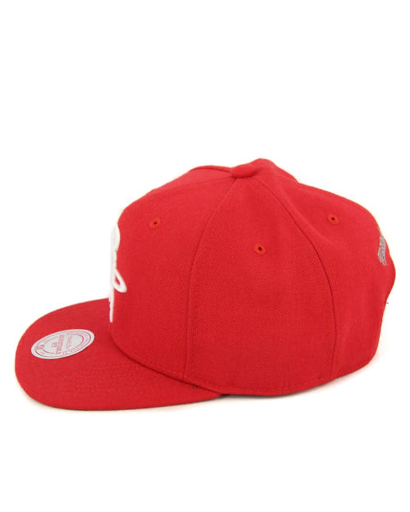 Rockets Wool Solid Snapback Red/white