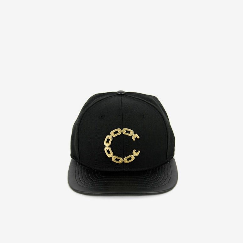 Thuxury Chain C Leather Strap Back Black/gold