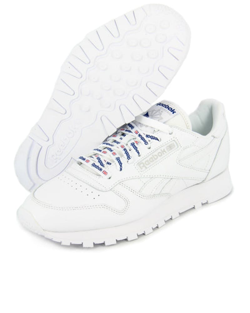 CL Leather 1895 White/royal