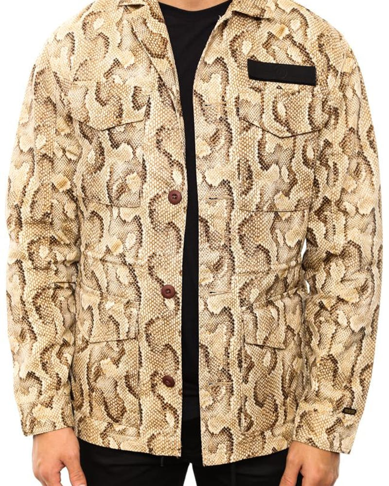 Army O Darkness Long Sleeve Button Up Snake
