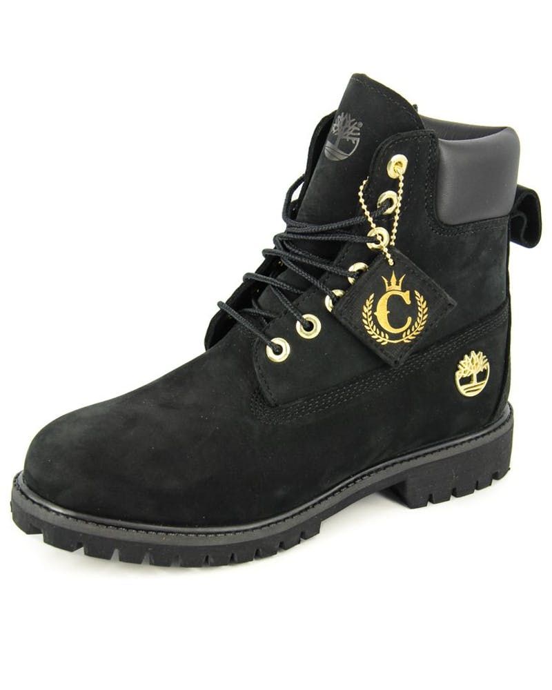 "Culture Kings x Timberland Collab 6"" Premium Boot Black/gold"