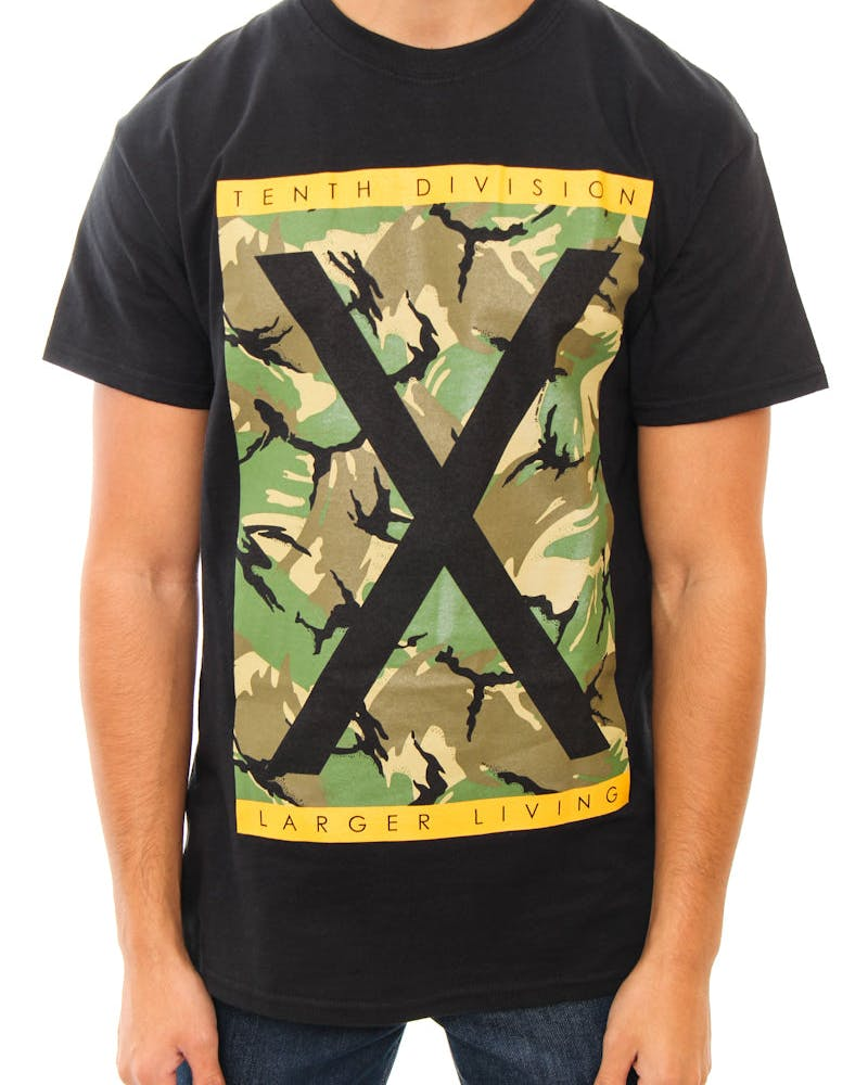 Larger Living Tee Black
