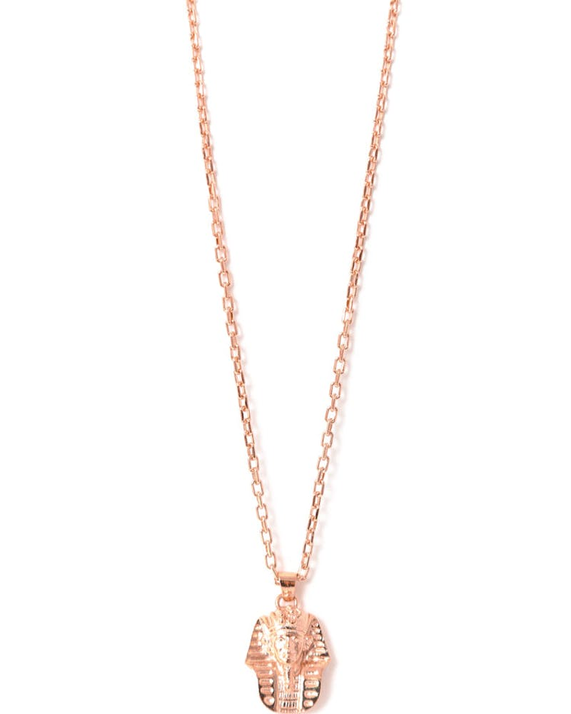 Micro King Tut Necklace Rose Gold