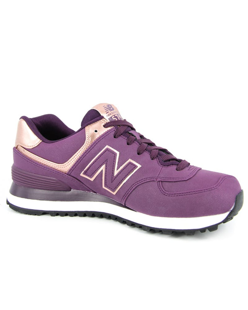 Womens Heavy Metal 574 Purple/bronze
