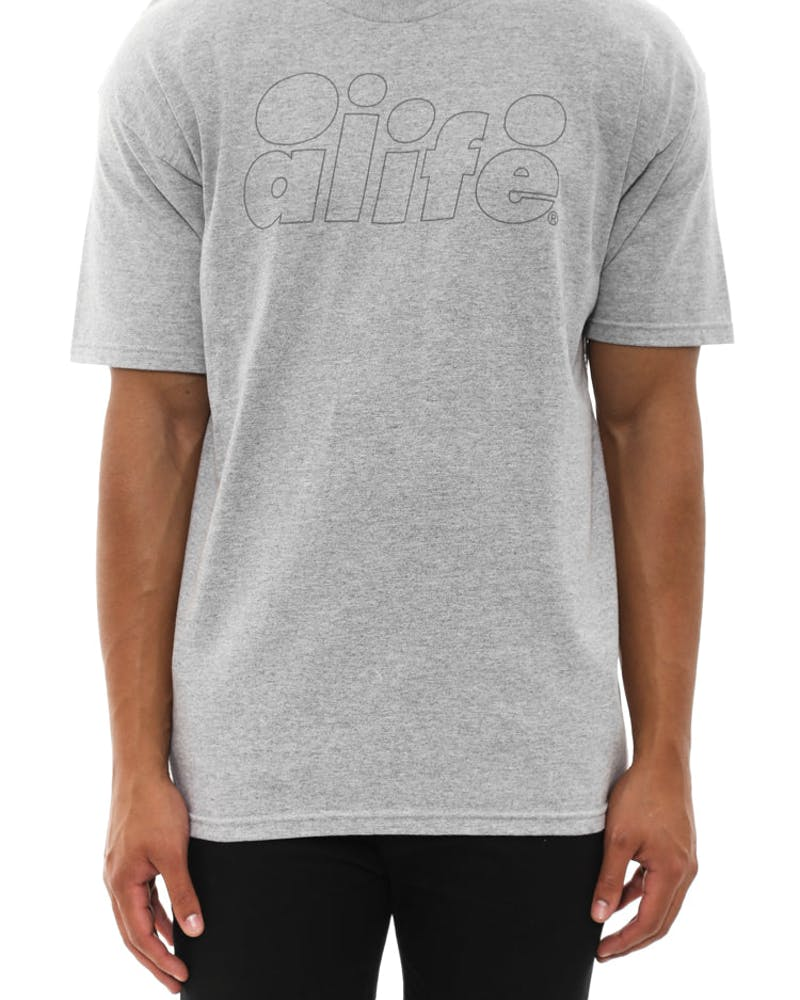 Outlined Tee Grey