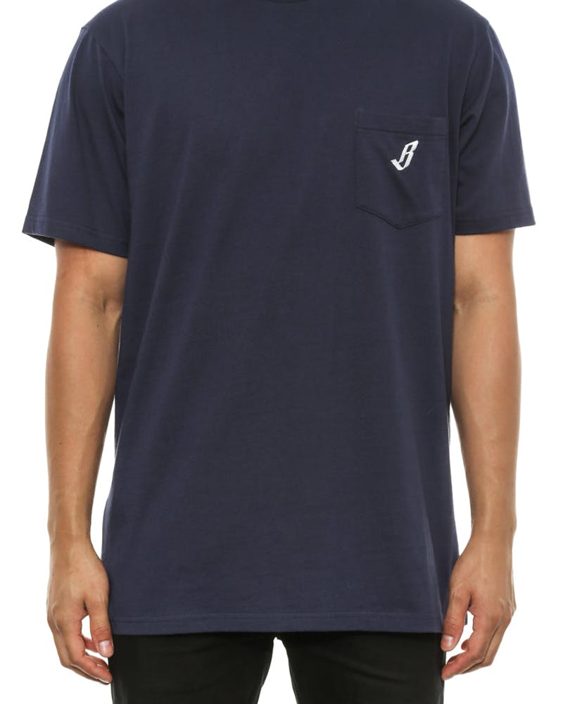 Mini B Pocket Tee Navy/white