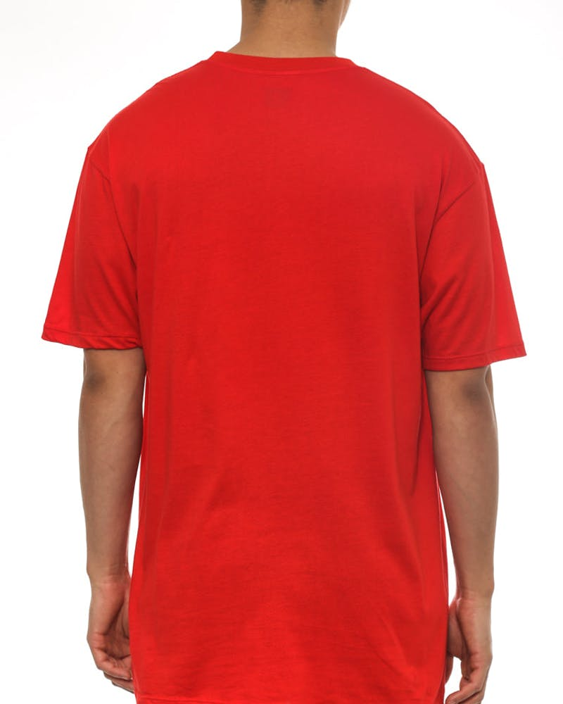 Big Script Reflective Tee Red