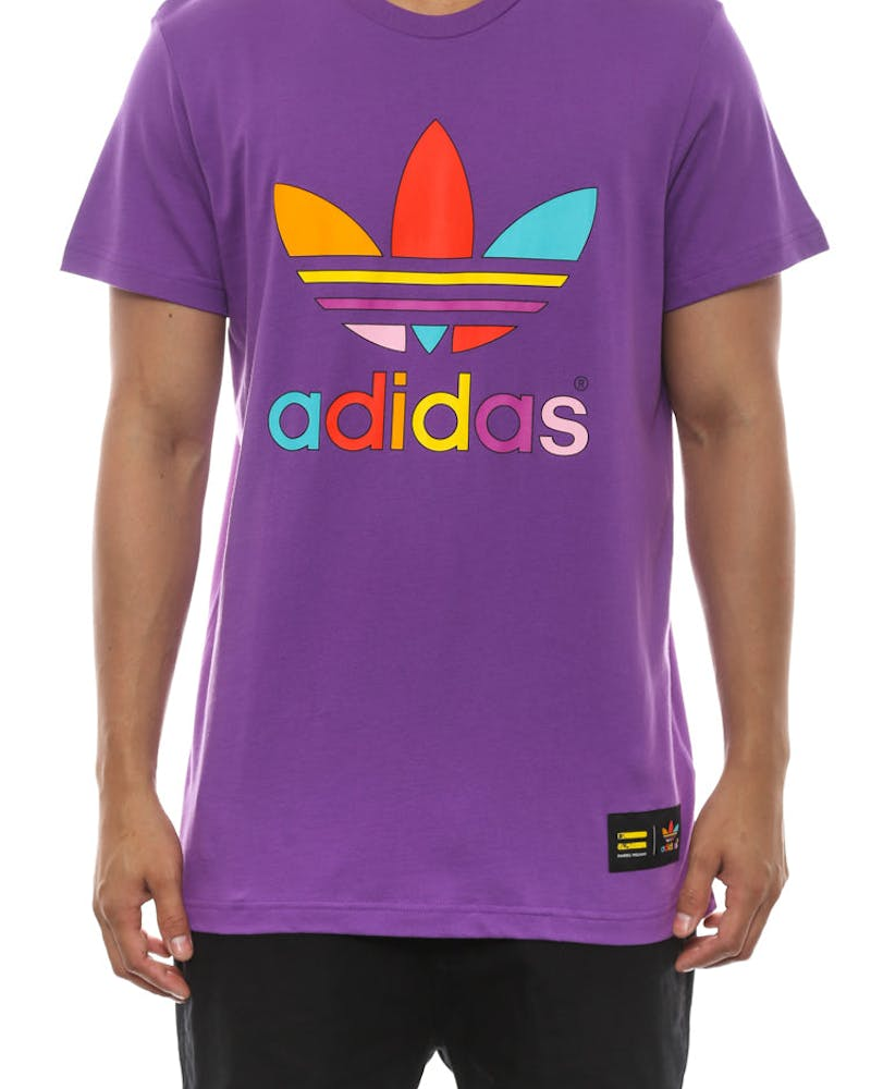 Mono Colour Trefoil Tee Purple