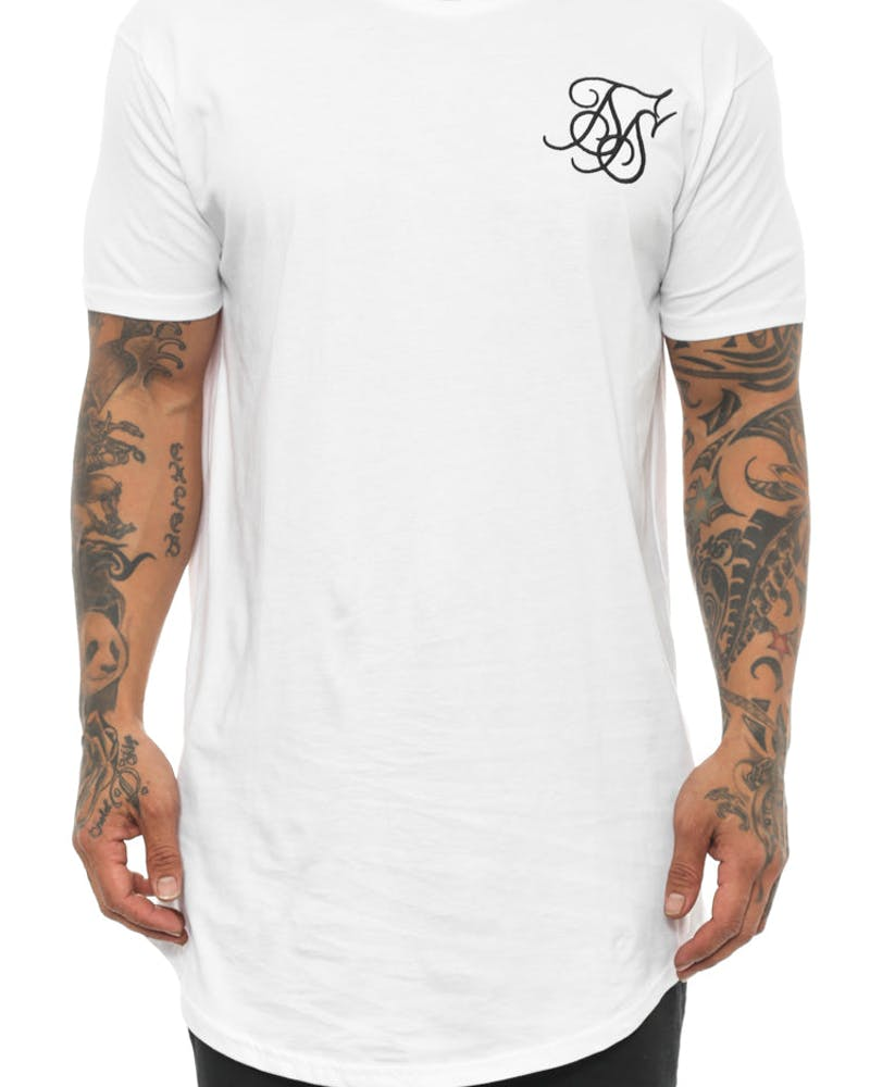 Rose Racer Curved Tee White