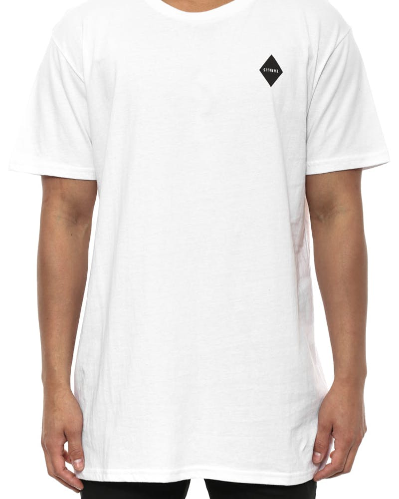 Diamond Tall Tee White