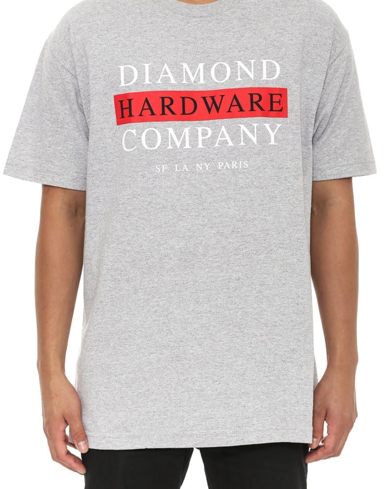 Hardware Stack Tee Heather Grey