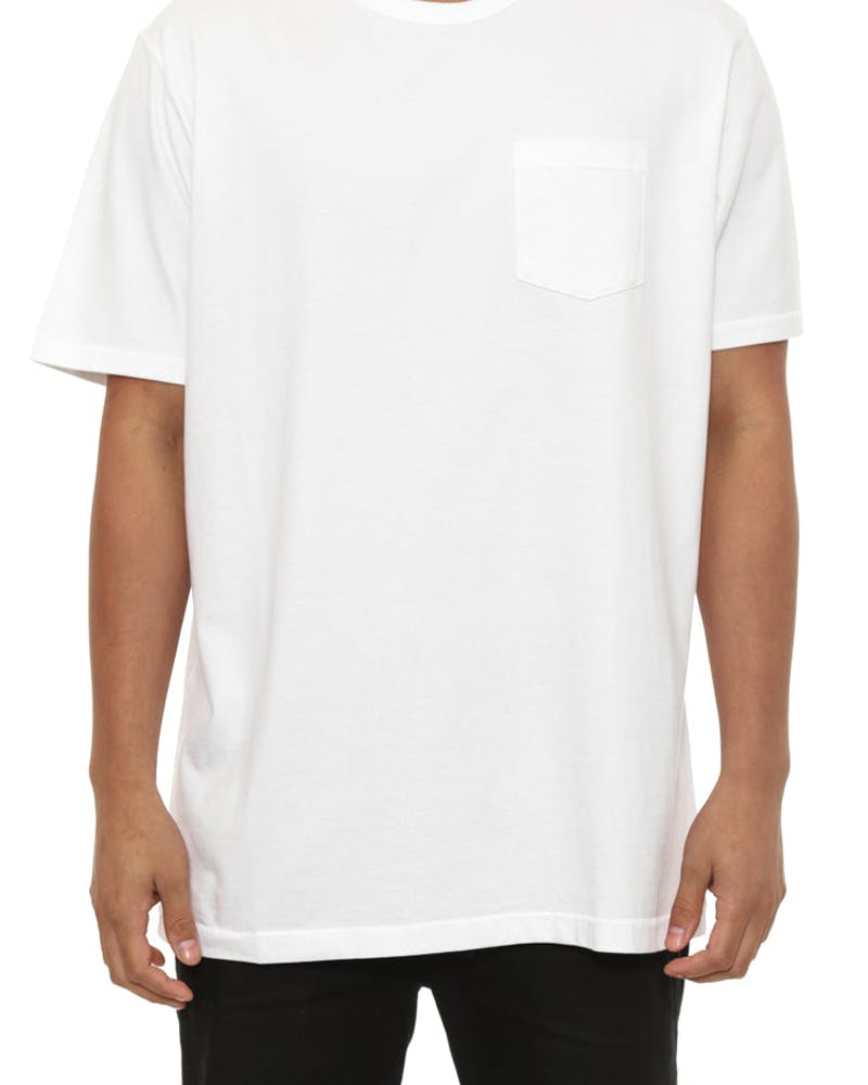 Basic Pocket T White