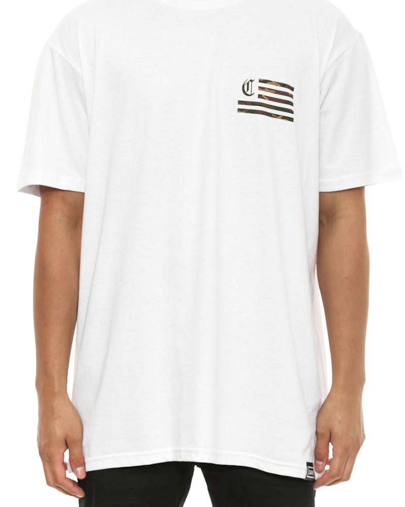 C Flag Standard Fit Tee White/camo