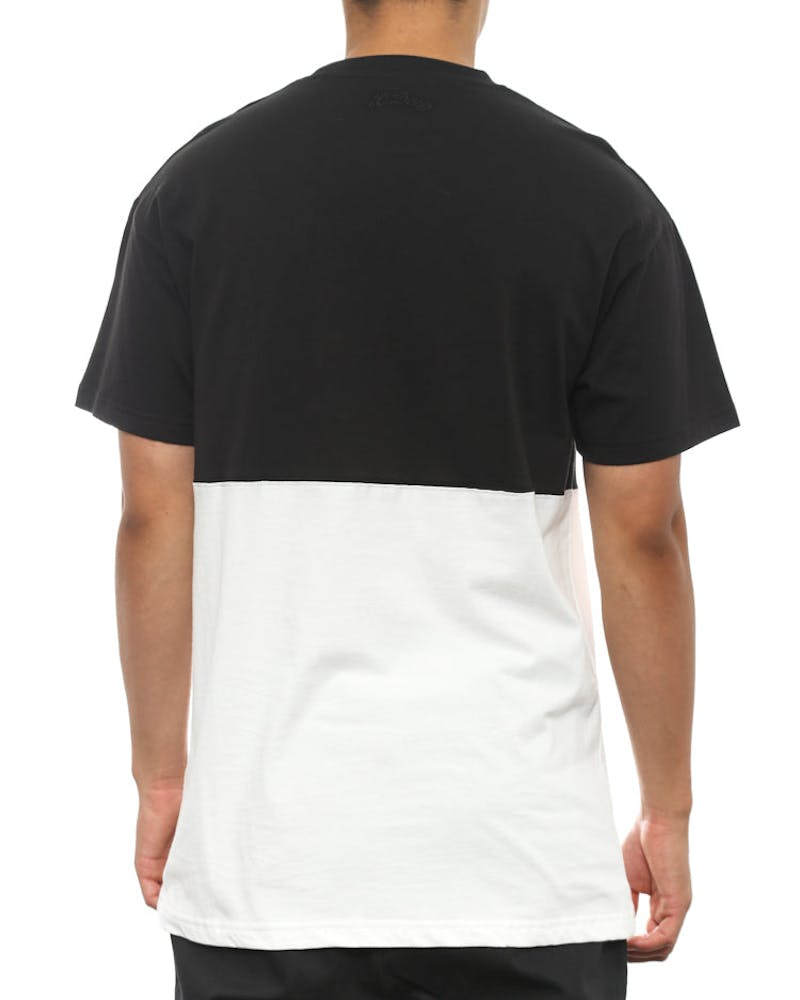 F14 Raise up Split Tee Black/white