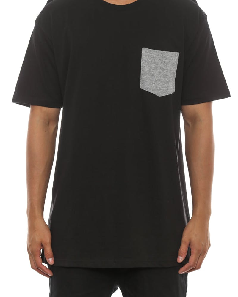 Colour Pocket Tee Black/grey