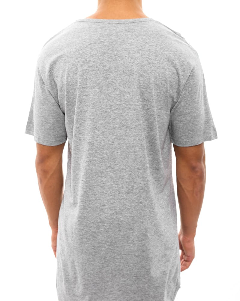 Ballin Droptail Tee Heather Grey/re
