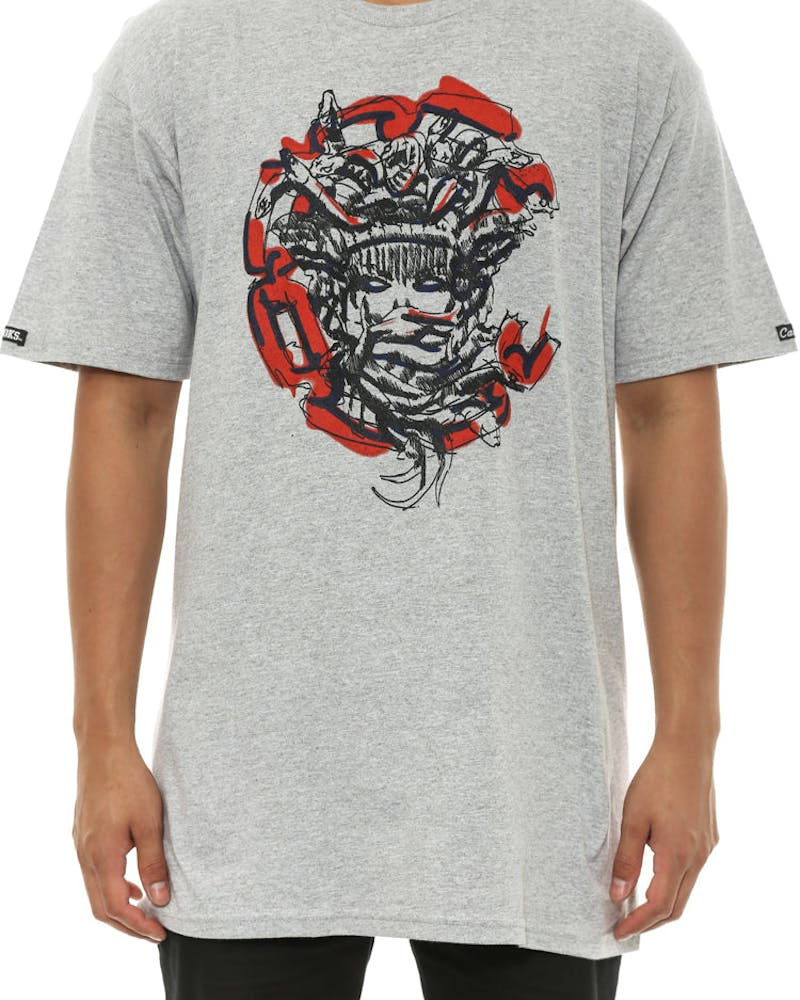 Roughed Out Medusa Tee Grey