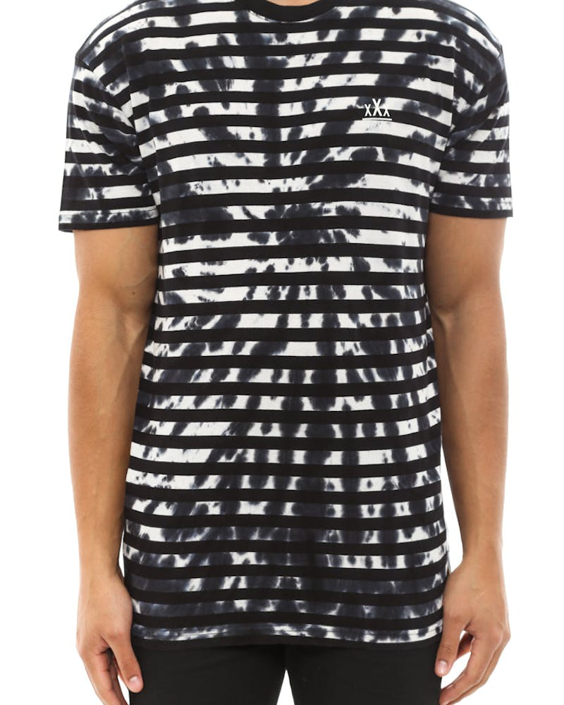Stripe Dye Tee Black