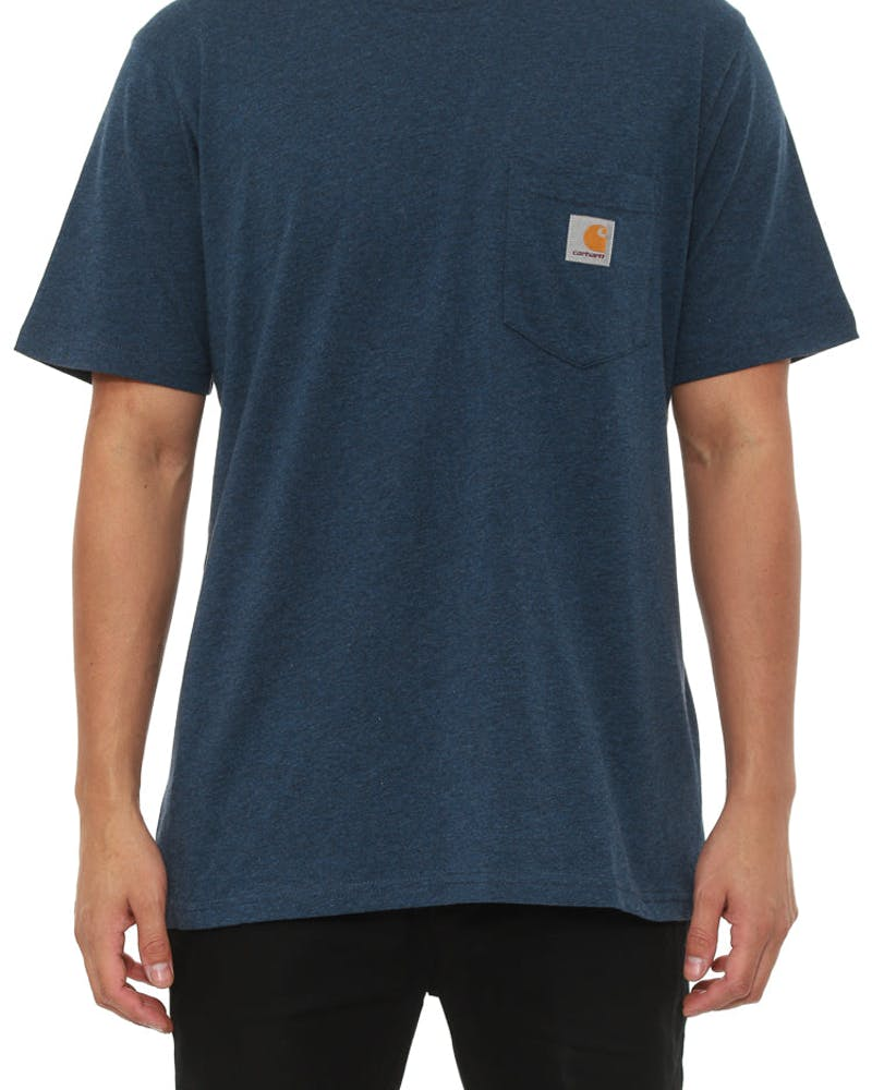 Pocket Short Sleeve Tee Navy Heather