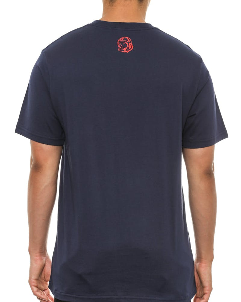Small Arch Logo Tee Navy/red