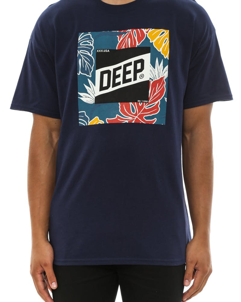 Tropical Slope Tee Navy