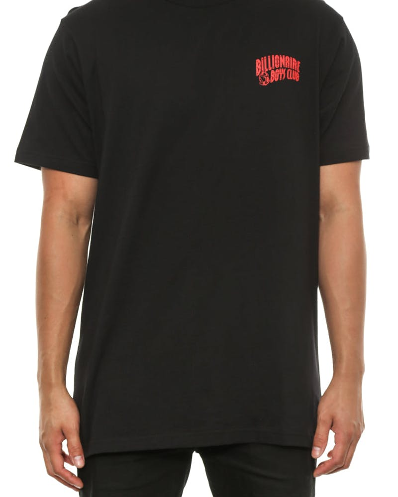 Small Arch Logo Tee Black/red