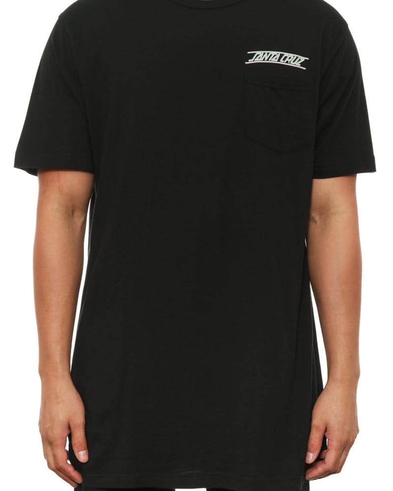 A Frame Pocket Tee Black