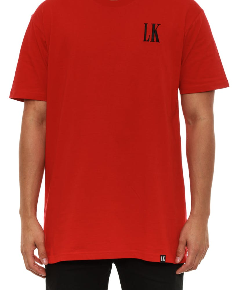 LK Logo SS T Red/black