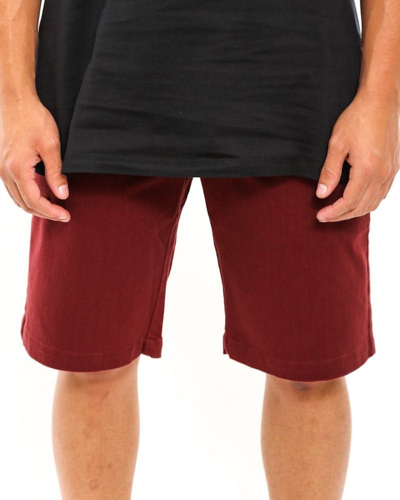 Dawson Slim Short Burgundy