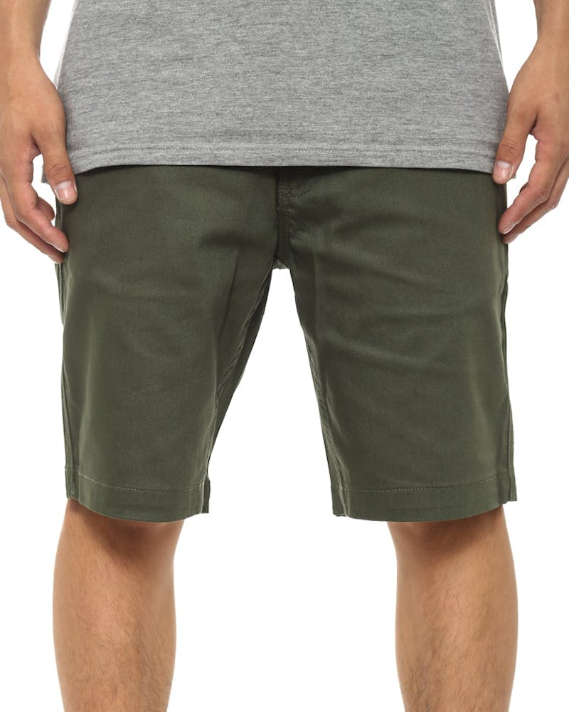 Sloan Stretch Twill Short Olive/brown
