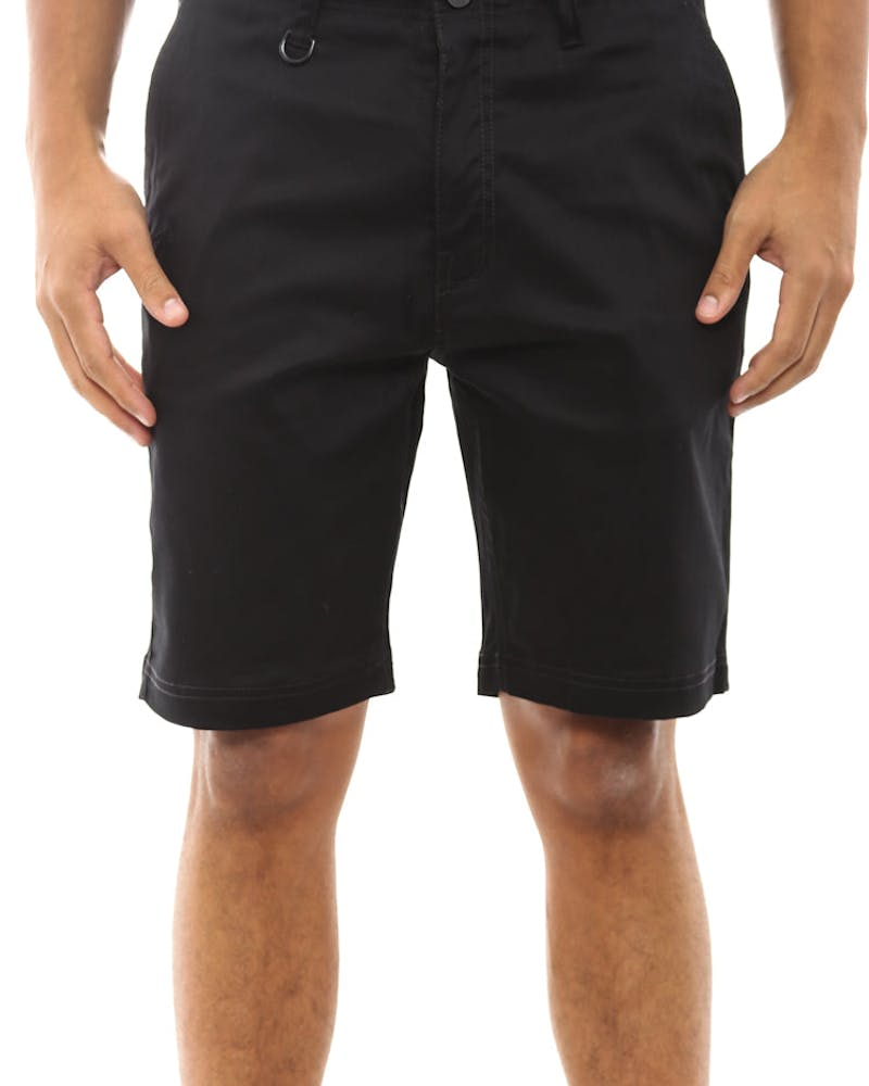 Casel Basic Twill Short Black