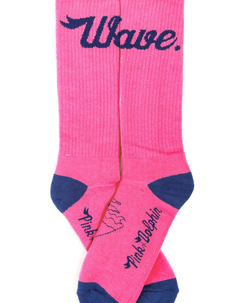 Wave Holiday 13 Sock Pink