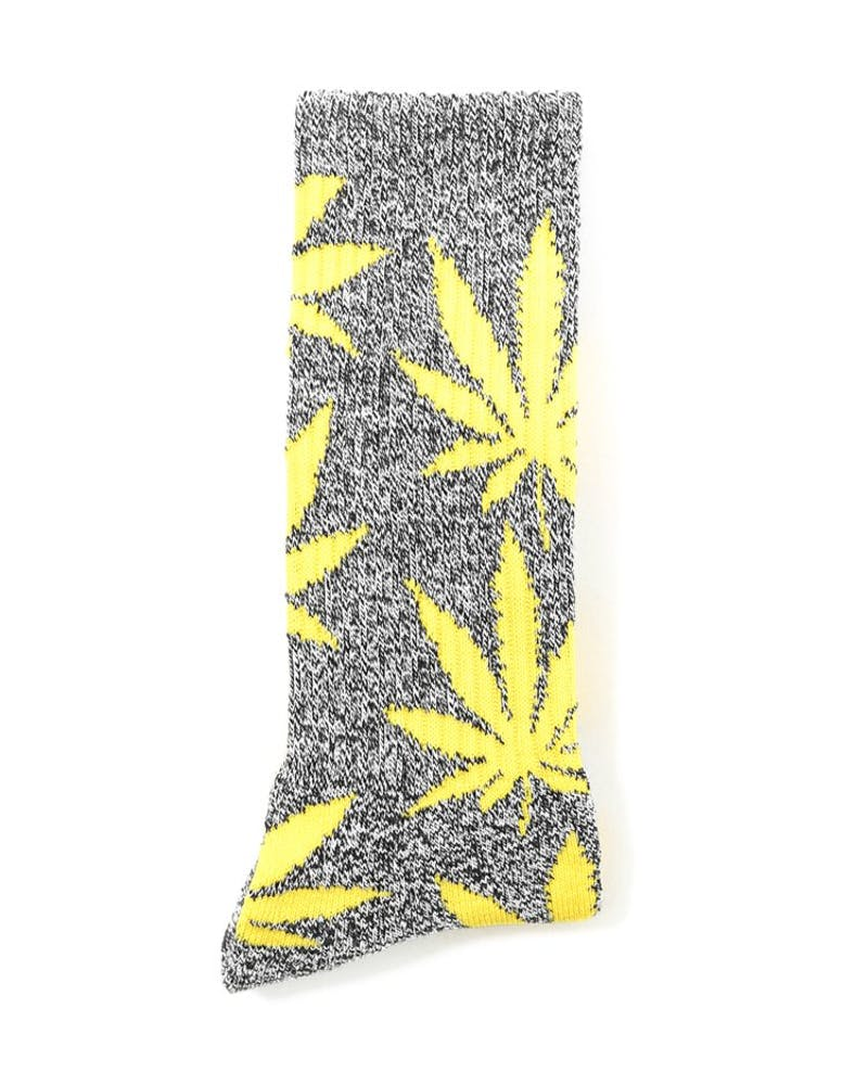 the Plantlife Socks 4 Heather Black/y