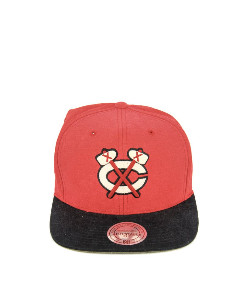 Blackhawks Sandy Snapback Red/black