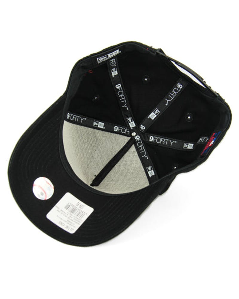 New Era Braves 9FORTY A-Frame Snapback Black/white