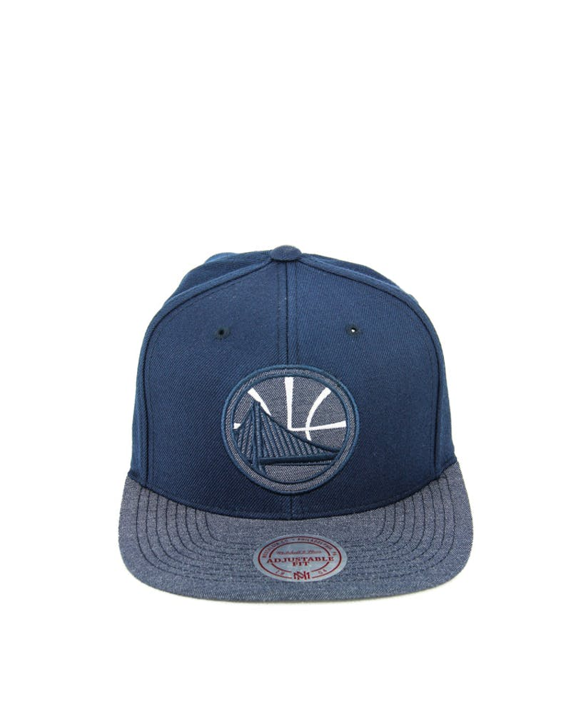 Warriors Heather 2 Tone Snapback Navy Heather