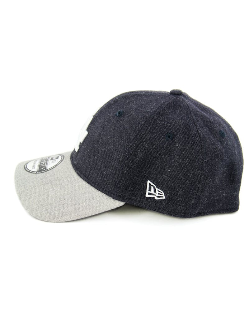 Dodgers Heather Visor 3930 Fashion Fitted Navy/grey